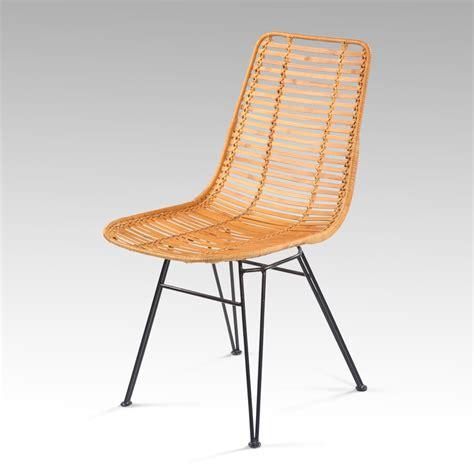 chaise kubu chaise kubu rotin et m 233 tal tress 233 marron nong