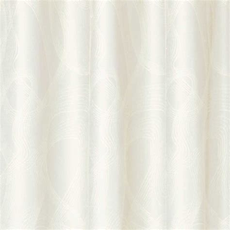 Rideau Blanc Design by Rideau Blanc Contemporain 224 Oeillets Motif Vague Par