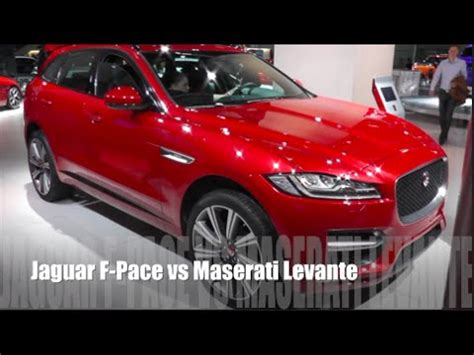 maserati levante red jaguar f pace 2016 vs maserati levante 2016 youtube