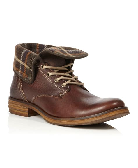 mens boots fold dune corduroy heavy fold boots in brown for
