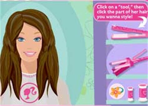hairstyles games of barbie barbie hair salon multilanguage curly medium hairstyles