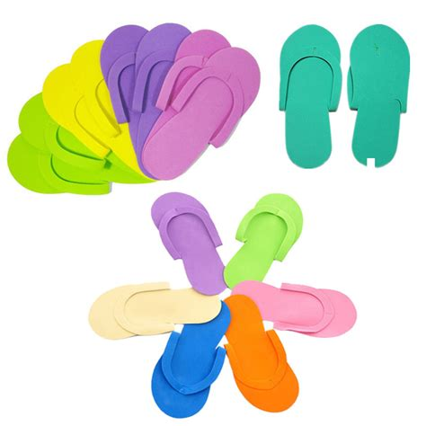 foam flip flop chair 6pairs disposable foam slippers high quality foam pedicure