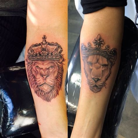 lion couple tattoos our tattoos we got on our 3rd wedding anniversary king
