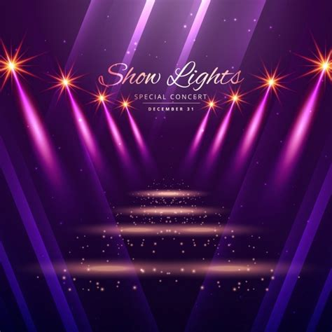 Show Lights Enterance Background Vector Free Download Lights Show