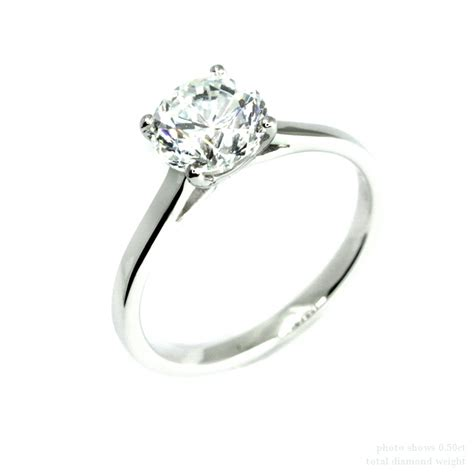 0 5ct cut solitaire engagement ring 18k