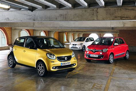 smart car vs smart forfour vs renault twingo and seat mii auto express