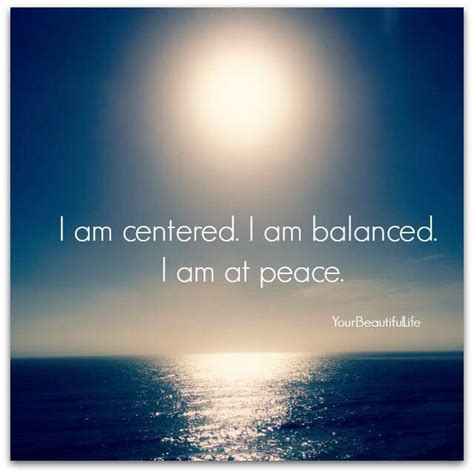 At Peace by Balance Quotes On Quotesgram