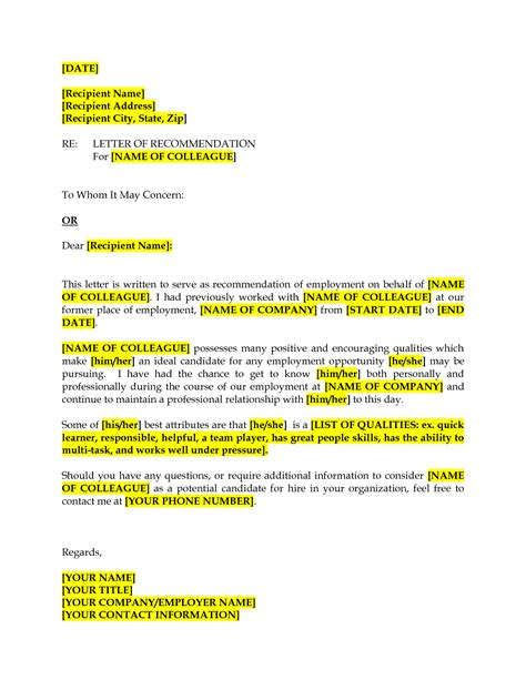 Reference Letter Business Colleague best photos of professional reference letters from