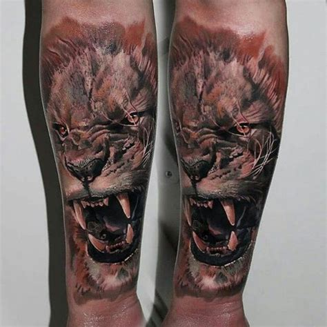 angry lion tattoo best tattoo ideas gallery