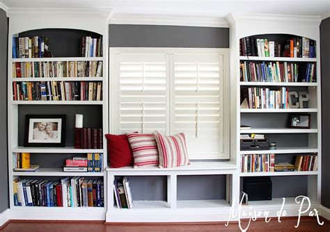 window bookshelves diy built in bookshelves maison de pax