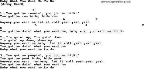 Pdf What Did You Expect Lyrics by Baby What You Want Me To Do By The Byrds Lyrics And Chords