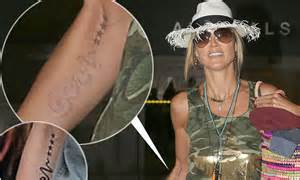 heidi klum tattoo removed heidi klum shows the results of removal as seal