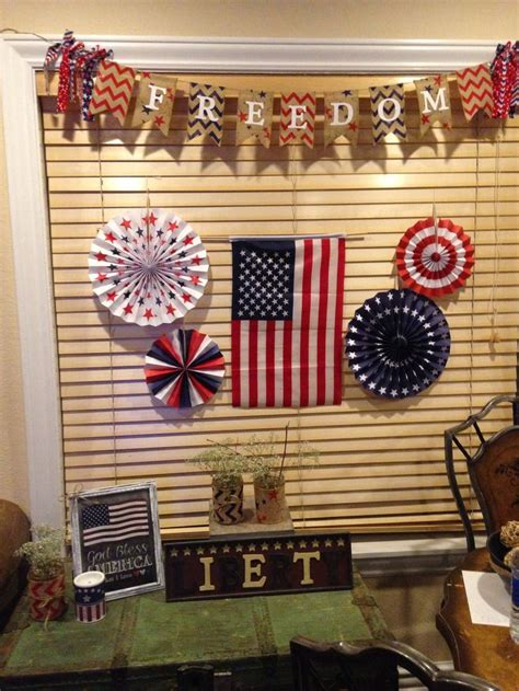 flag decorations for home patriotic home decorations marceladick com