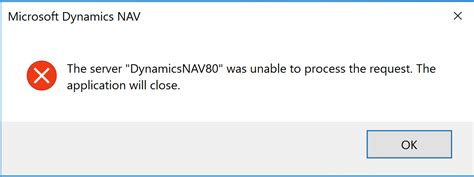 About Computer The Server Quot Dynamicsnav80 Quot Was Unable To