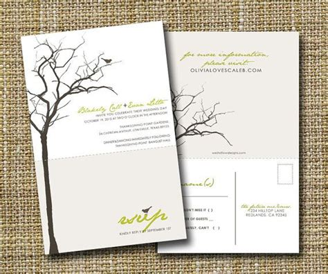 wedding invitation with rsvp attached i like this idea where the rsvp card is attached to the