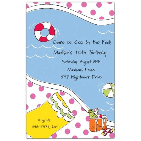 swimming birthday invitations paperstyle
