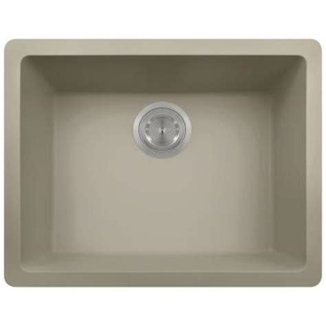 Slate Kitchen Sink Polaris Sinks Undermount Granite 22 In Single Bowl Kitchen Sink In Slate P808 Slate The Home