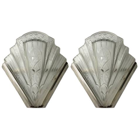 Flower Wall Sconces Pair Of Frontisi Flower Wall Sconces Deco Modernism