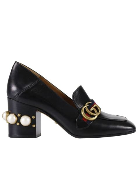 high heel loafer pumps gucci high heel shoes peyton loafer pumps with gg web