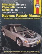 all car manuals free 1994 eagle talon security system 1990 1994 mitsubishi eclipse plymouth laser talon haynes manual