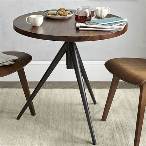 elm bistro table adjustable bistro table elm