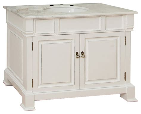 bathroom sink consoles wood 42 quot single sink wood vanity white transitional