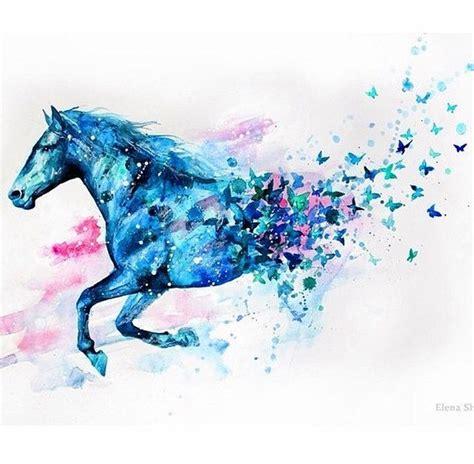 art beautiful drawing blue diy draw drawing horse