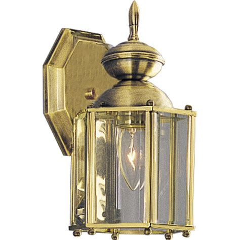 Progress Outdoor Lighting Fixtures Progress Lighting P5756 10 Brassguard Lantern Outdoor Wall Mount Lantern