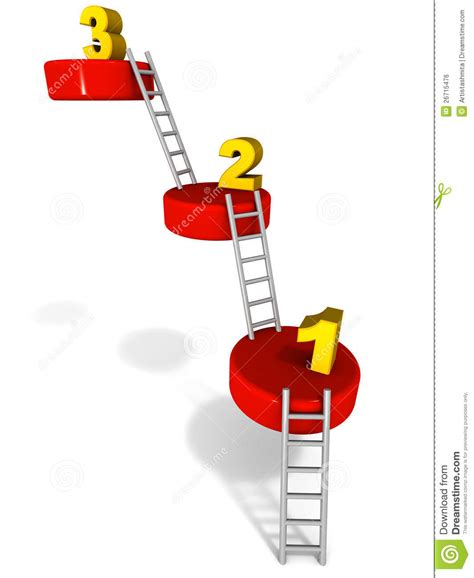 One Step Amily 3 steps one two three royalty free stock image image 26715476