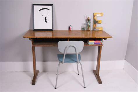 Kid School Desk Children S Vintage Laboratory Table Desk Blue Ticking