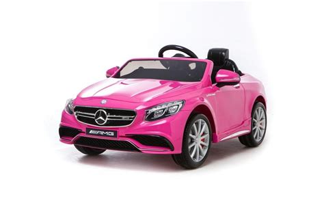 pink cars mercedes s63 amg licensed 12v kids electric car pink