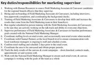 Marketing Associate Description by Marketing Supervisor Description