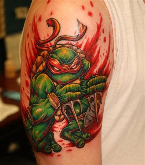 teenage mutant ninja turtles tattoos raphael turtle best design ideas
