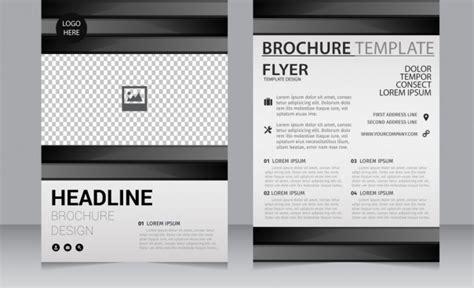black brochure template csoforum info