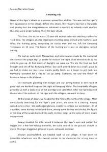 Narrative Essay by Sle Narrative Essay
