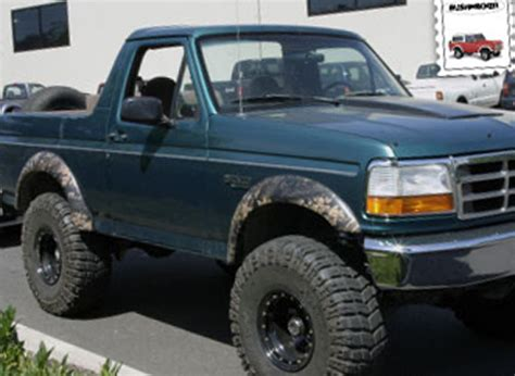 1996 bronco f series ford bronco f series bushwacker extend a fender flare kit 1992 1997 xxx2090411