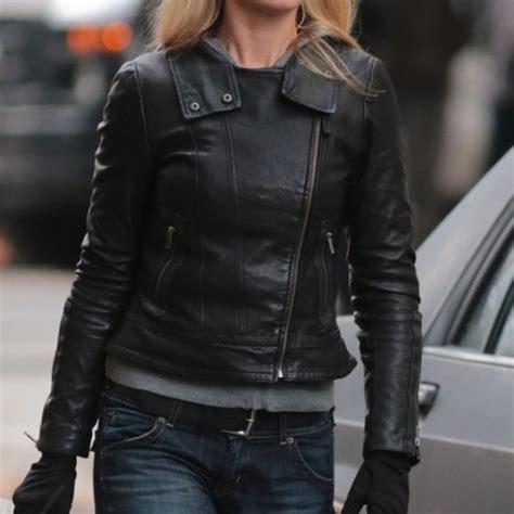 Leather Sydney by Sydney Leather Jacket Kate Winslet Black Real Leather Jacket