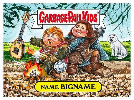 garbage pail card template 2017 gpk topps