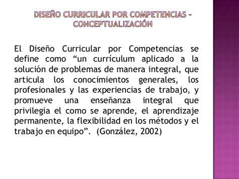 Diseño Curricular Por Competencias Profesionales Fases Para Un Dise 241 O Curricular Por Competencias