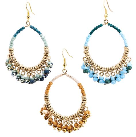 Beaded Hoop beaded hoop drop earrings drop earrings