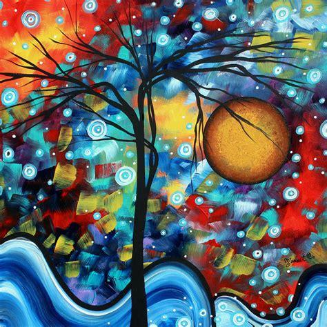 biography of modern artist abstract landscap art original circle of life painting