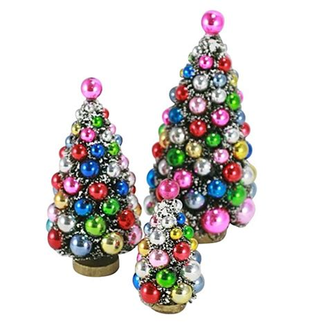 retro bauble tree decorations from berry red modern