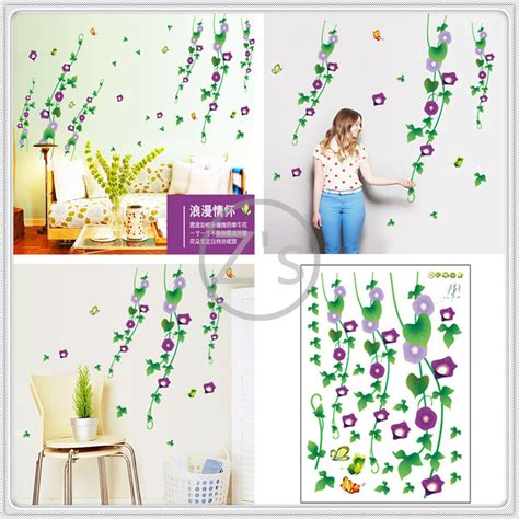 vinyl flowers wall sticker home decor diy adhesive