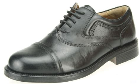 oxford toe cap shoes oaktrak stonebridge oxford cap black leather toe