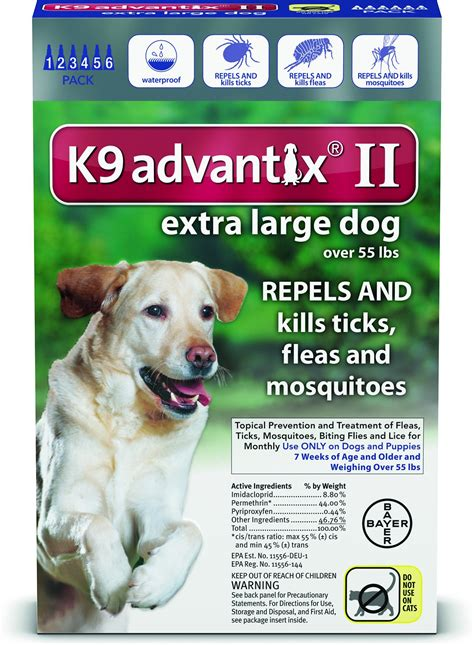 best tick medicine for dogs k9 advantix ii flea tick treatment for dogs 55 lbs 6 treatments chewy