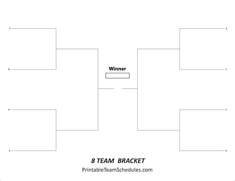 free printable volleyball brackets tournament bracket free printable 8 team tournament