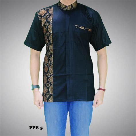 Kemeja Batik Pria Murah Kode Rkr01 kemeja batik pria kombinasi prada kode ppe 5 batik prasetyo