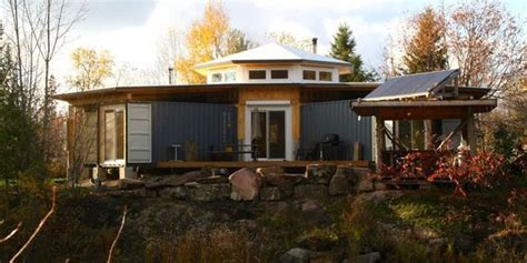 a canadian man built this off grid shipping container home this man built a solar powered shipping container cabin