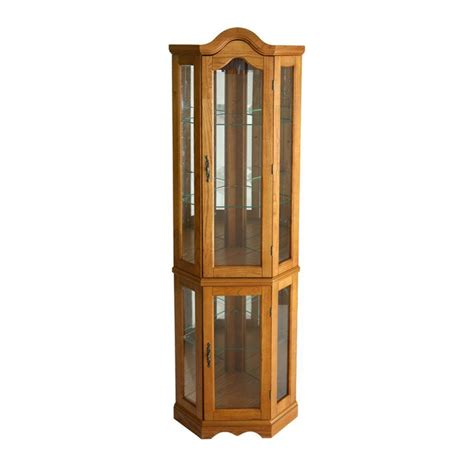 southern enterprises china cabinet southern enterprises priscilla golden oak glass door curio