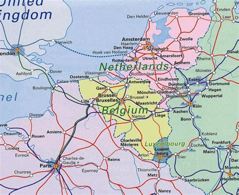 belgium railway map map of netherlands and belgium benelux railway map